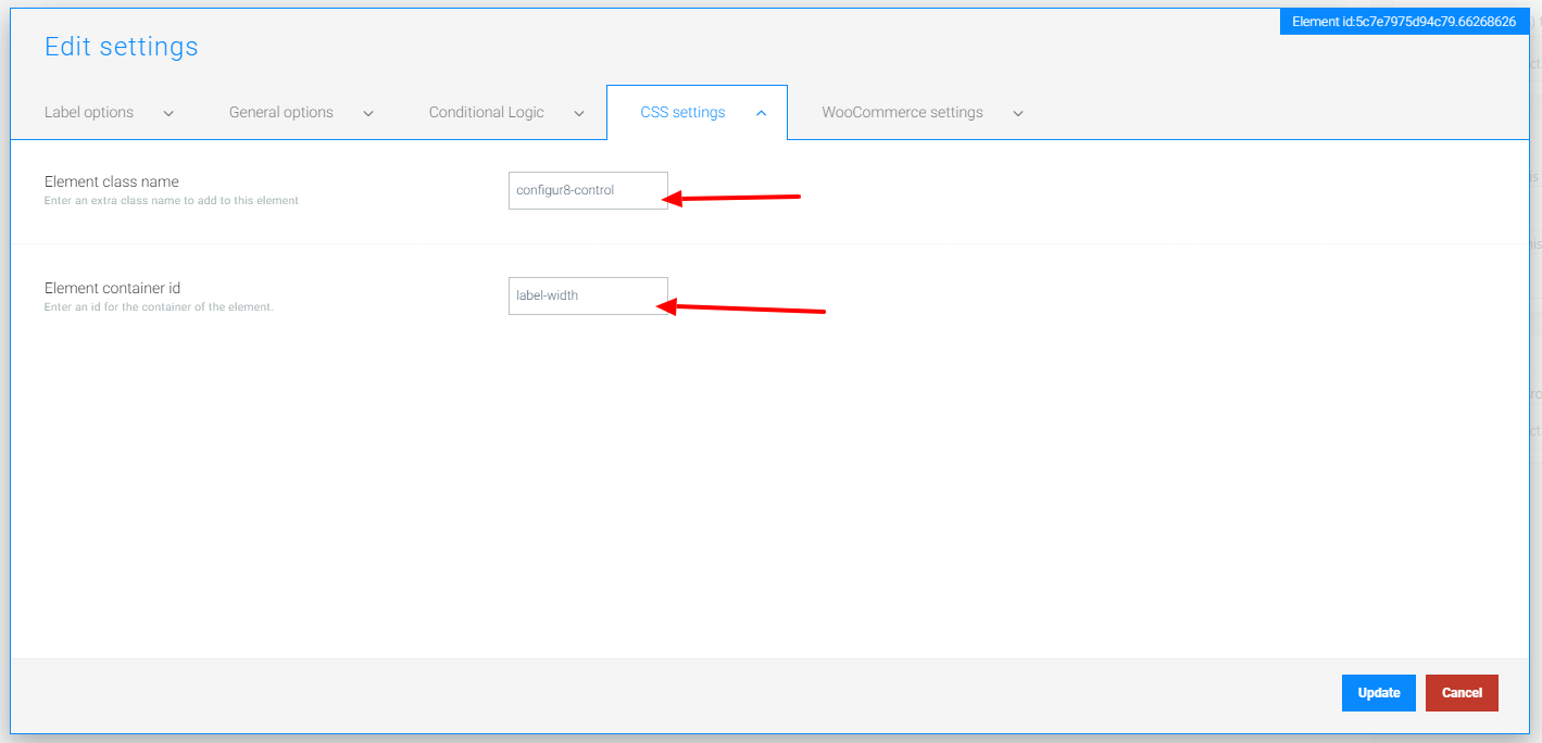 TM Extra Product Options CSS Settings to Trigger MyStyle Width and Height