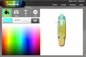 Whatever Skateboards Mobile Customizer