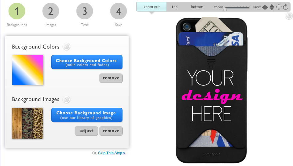 MyStyle Customizer for Coveroo Card-Holder iPhone Case