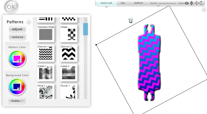 Screen Shot of Patterns Feature
